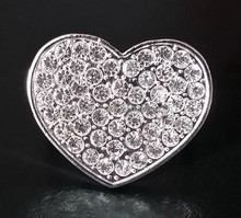 wholesale jewel rhinestones metal alloy napkin ring