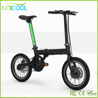 2017 Best quality 16 Inch 2 wheel e-bike folding electric bicycle with disc brake