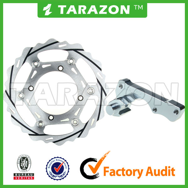 Motorcycle 270MM Oversize Light Weight Grooved Floating Front Brake Disc Disk Rotor With Bracket For CR250R XL350R