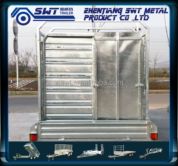 Attractive price cattle transport full truck trailer from China