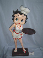 78CM Betty Boop Diner Waitress with tray, Betty Boop Diner Waitress Resin Figure for Decor