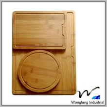 A level product quality suppliers customize the FDA natural color Bamboo cutting board set