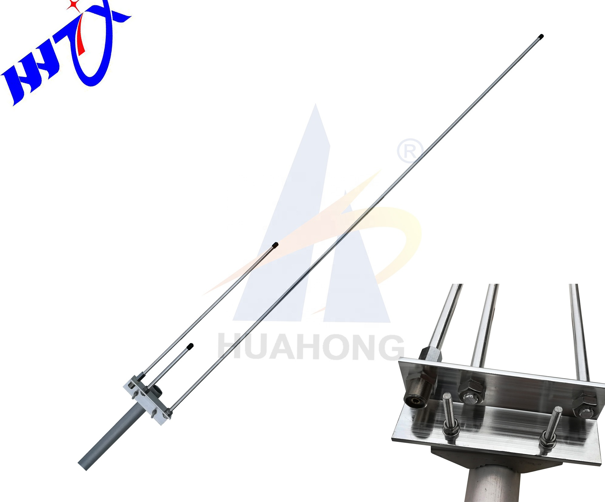 Outdoor direct ground Aluminum alloy dual band VHF UHF 144/430mhz omnidirectional base station <strong>antenna</strong>