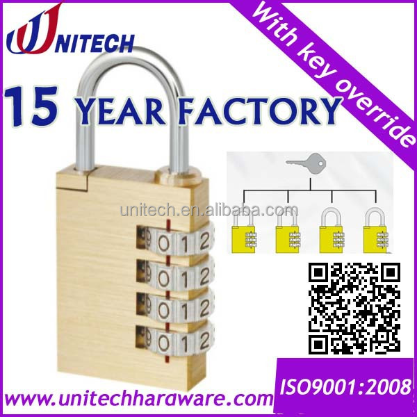 30mm Resettable lock,combination padlock with master key