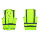 Reflective Tape Hook And Loop Snap Cheap Traffic Safety Vest