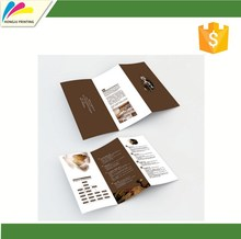 Customized CMYK Printed Tri-folded Brochure Printing Personalized customized private