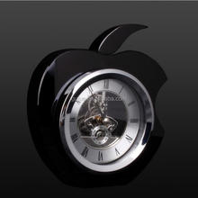 Faceted Apple Shaped Cube Crystal Clock