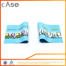 Wholesale custom print kids cute microfiber cleaning cloth glasses