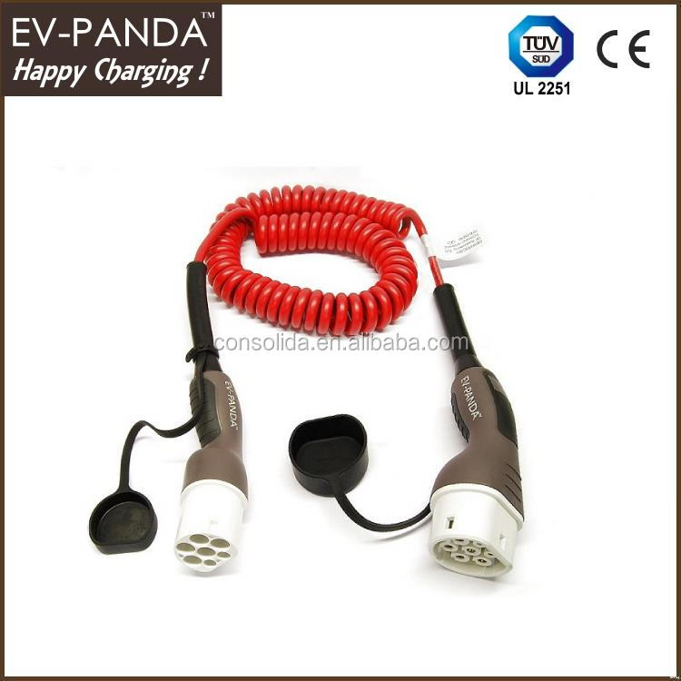 Ev type 2 female connector plug cables for charge plug