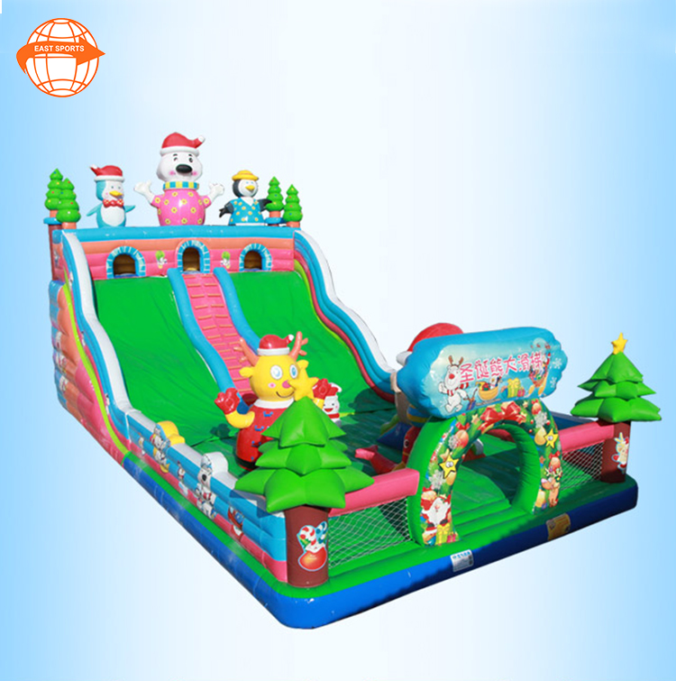 Indoor Or Outdoor Unique Christmas Combo Party Events Festival Bounce House Christmas Combo Games For Kids And Adults