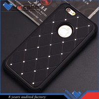 Guangzhou wholesale flexible price diamond studded cell phone case
