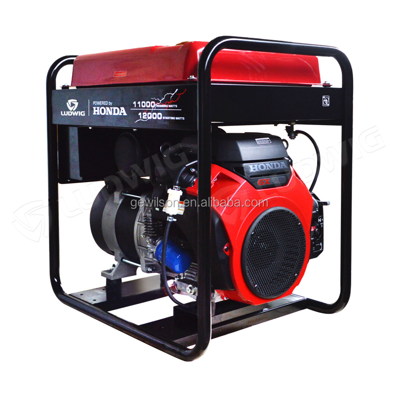 Single phase Gasoline generator powered by HONDA GX630 with electric and hand start