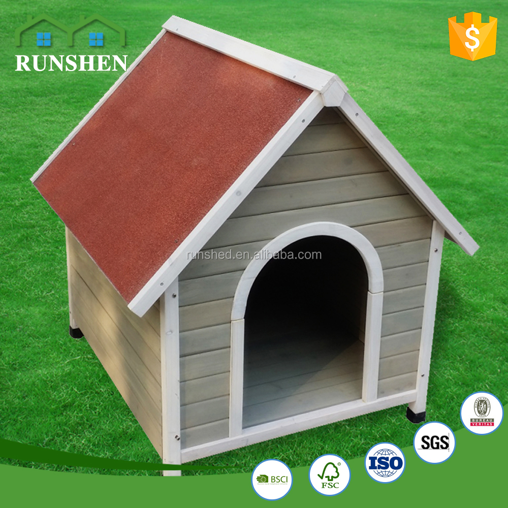 Outside Furniture Easy Moved Simple style Wooden Dog House For Kennel Customizable color and size Outdoor & indoor
