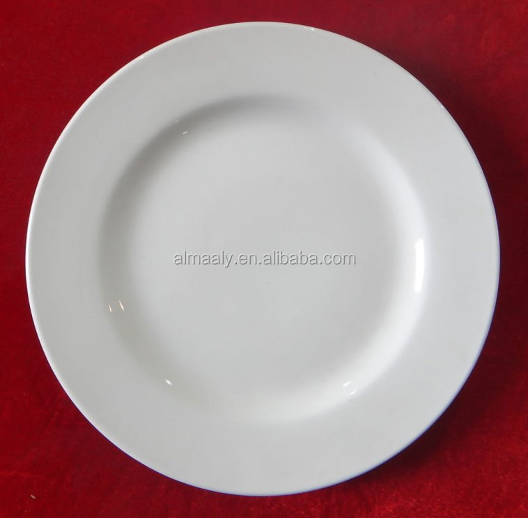 27 cm ceramic china white cheap dinner plate for restaurant and hotel