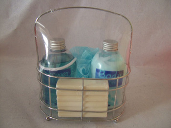 wire basket bath and body gift sets