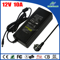 Desktop power supply 120W 12V 10A AC DC adapter with 5.5*2.5mm DC jack