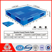 Double faced recycled mesh plastic pallet