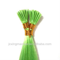 fashion color green light hair products,stick I tip pre-bonded hair extension 1g/strand