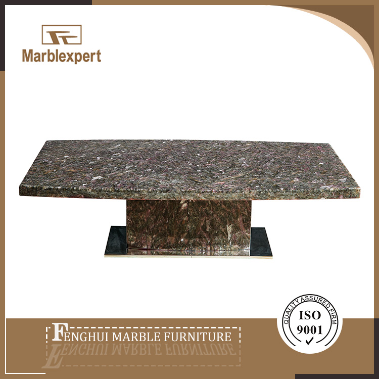 Modern luxury rectangular marble top coffee table