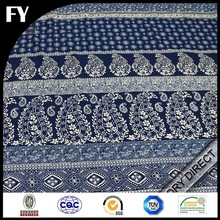 Factory direct high quality digital print flax fabric