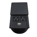 New Design!Waterproof and Dustproof Desktop Socket Outlet with 2 AC Power and 2 USB Charger