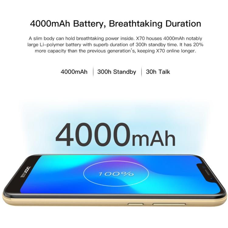 5.5 Inch Dropshipping UnlockedDOOGEE X70 Smartphone 2GB+16GB Android 8.1 MTK6580A Quad Core up to 1.3GHz Phone