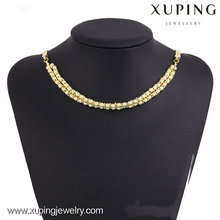 42779-xuping fashion necklace prayer beads 14k simple chain designs