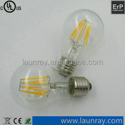 Vintage Edison 6W 8W E27 Base Dimmable Filaments Led Bulb Kids Rome High Lumen Led Filament Light Bulb