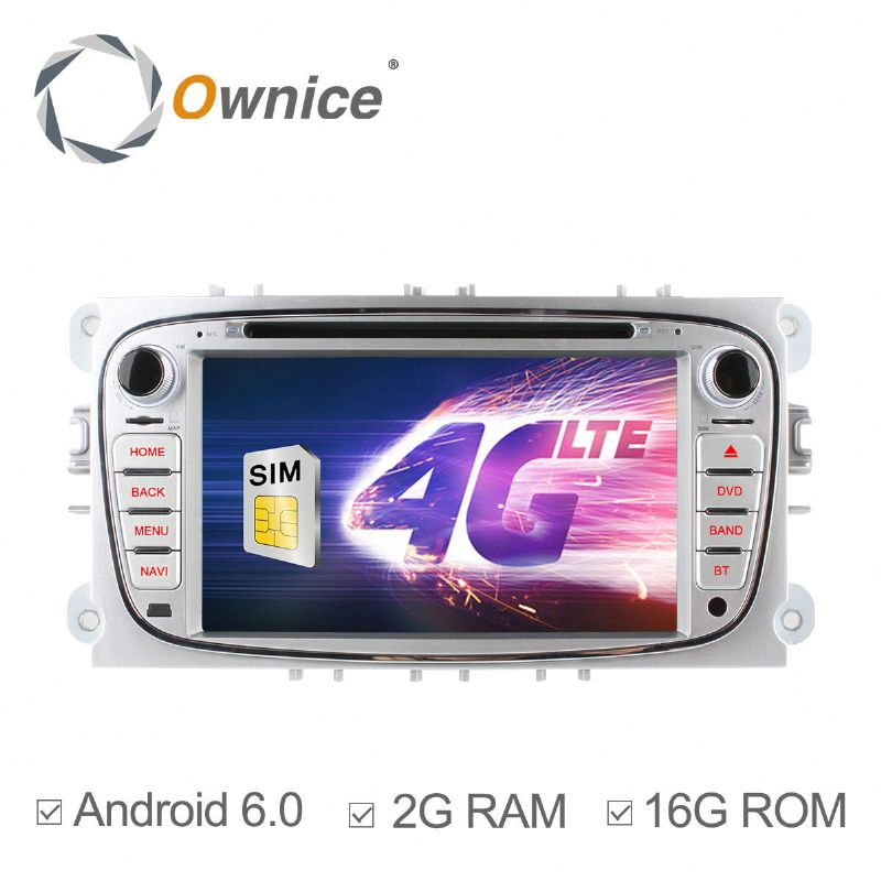 Ownice Android 6.0 gps navigation for Ford Focus MONDEO with GPS Navi Stereo WIFI built 4G lte DVD support TV