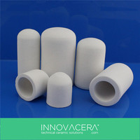 Withstands High Temperature Porous Ceramic Tube For Gas burners / INNOVACERA