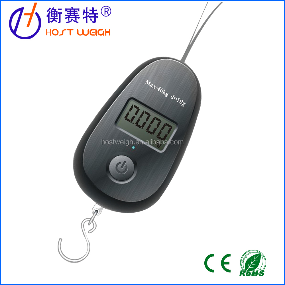 Egg type Mini luggage scale with One Button for All Functions,promotion product