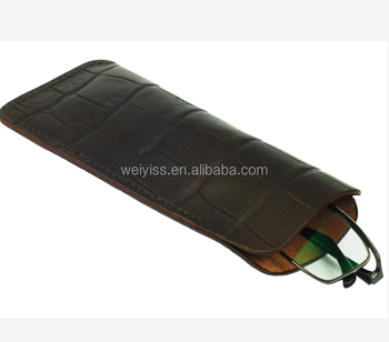 leather pu glasses pouch supplier in China