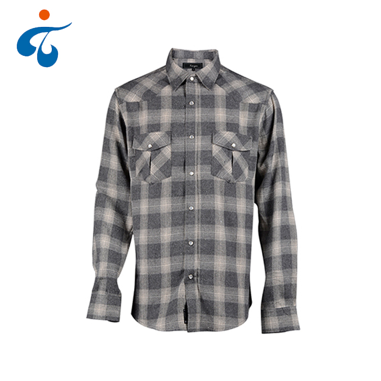 Trendy oem wholesale plaid comfortable men flannel shirt manufacturer