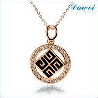 California Gold Necklace Pendant 18K Gold Plated Jewelry For Women