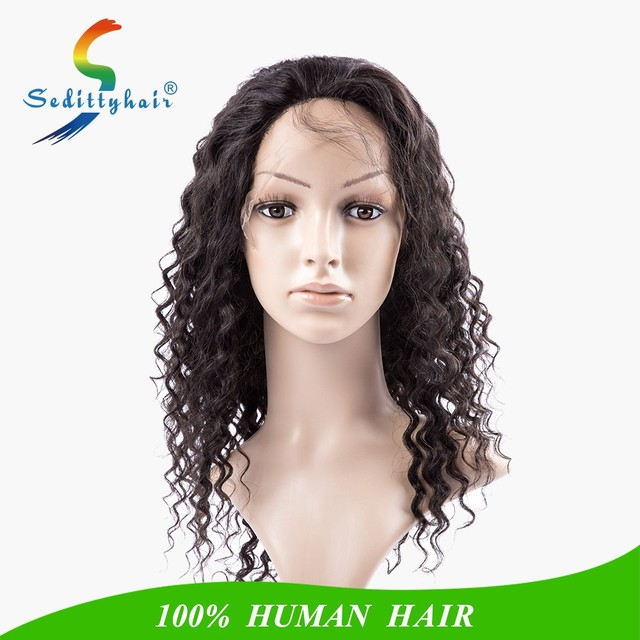 Oprah curl frontal lace wig deep curl human hair wig with baby hair