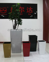 2015 salable tall vase,large square flowerpot,home & garden decoration