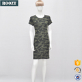 OEM new arrival cotton casual camouflage short dress for women