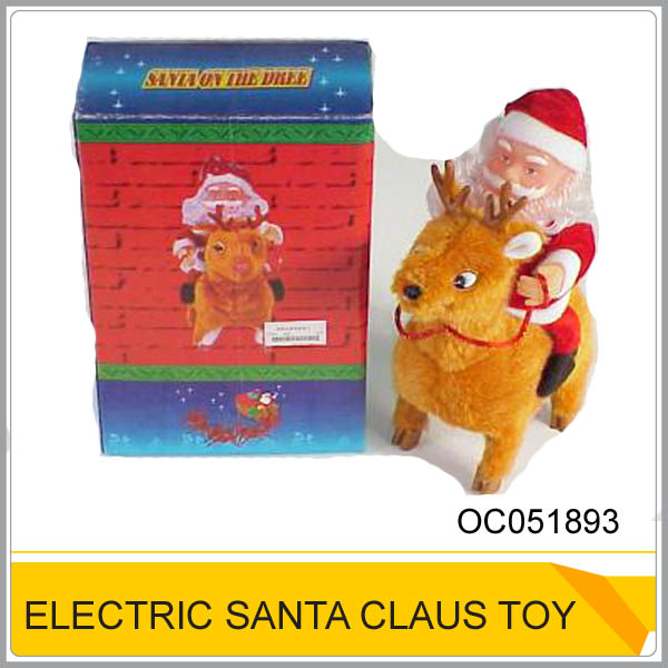 Hot sale Father christmas ride on deer Electric santa claus toy OC051893