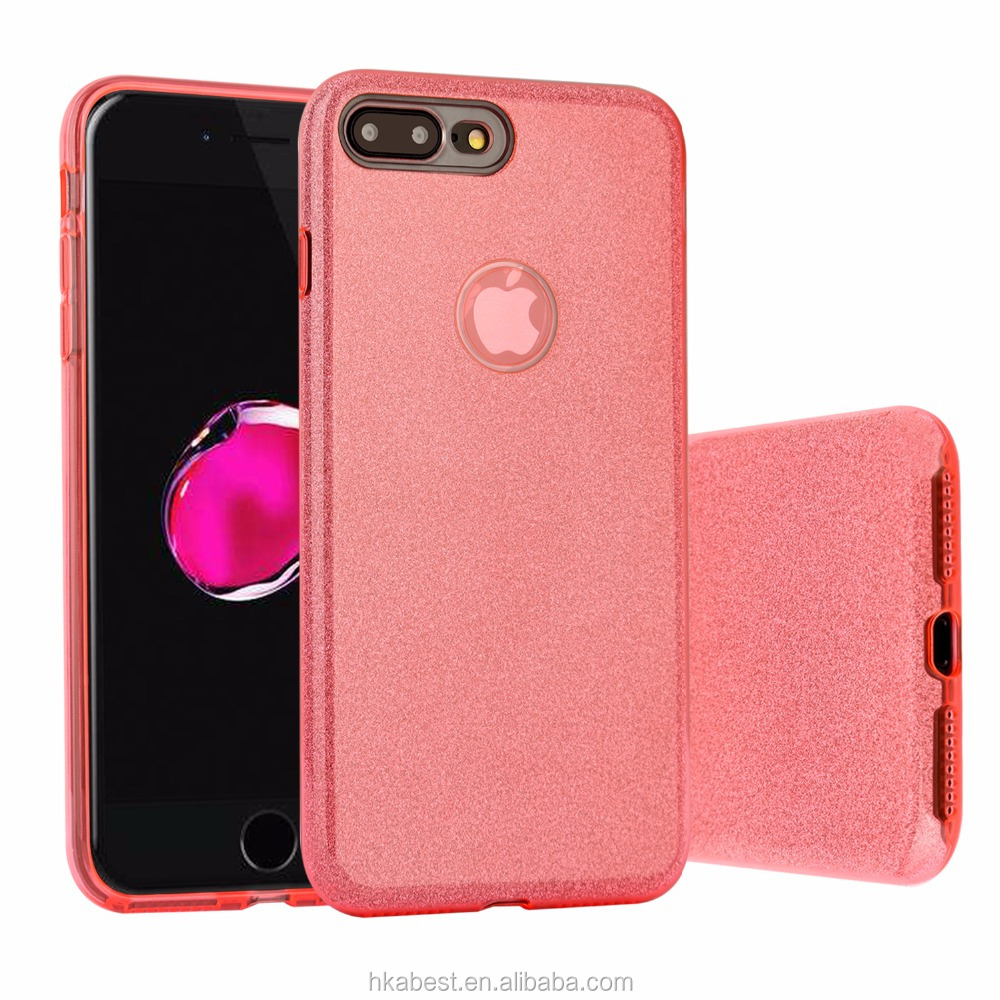 For iPhone 7/8 Plus Cover Case, for Iphone 7 8 Back Cover Shinning Protective Bumper Sparkle Bling Glitter Case for 5.5 Inches