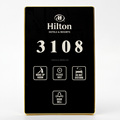 Multi-functional Hotel Room Number Sign with DND MUR Doorbell