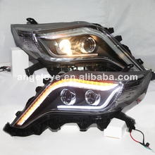 2015 year Prado FJ150 LED Headlight For TOYOTA Land Cruiser Black Housing LF
