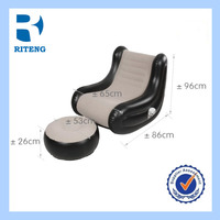 flocking pvc cheap cooler inflatable lounger chair inflatable sofa