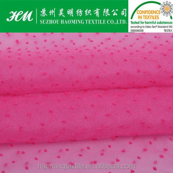 ultralight polyester clip chiffon fabric for garment and decoration