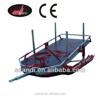 Professional Snow Sled Trailer Manufacturer 4W-SL01 Snow Sled Trailer