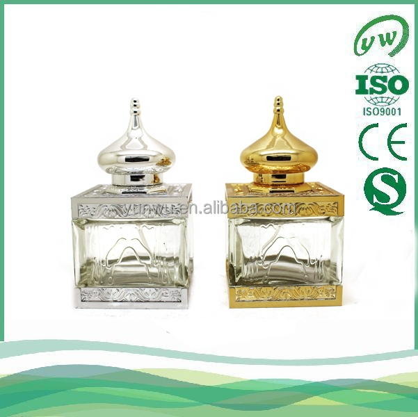A2104-50ML Muslim architecture style glass perfume bottle