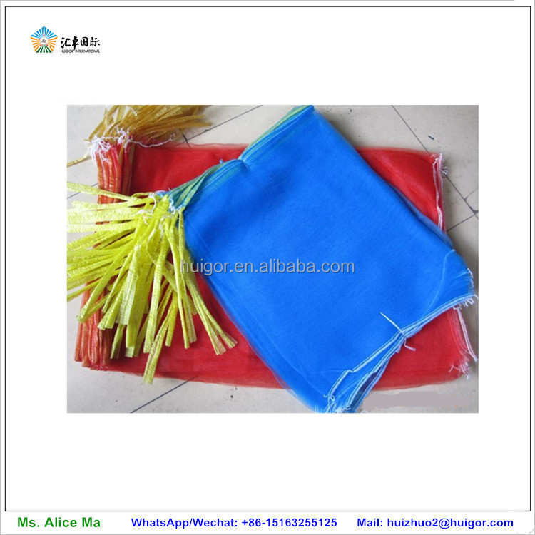 factory hotsale PP tubular reusable mesh produce bags for vegetables