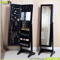 Amazon best selling wood standing jewellery mirror cabinet