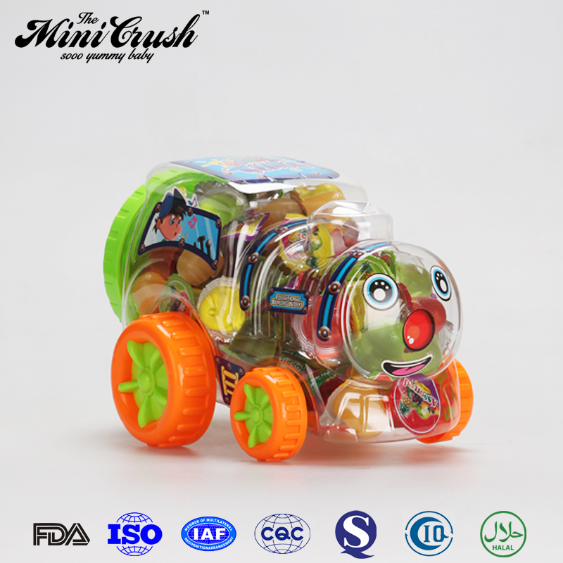 2017 Hottest train toy for coconut pudding fruit candy