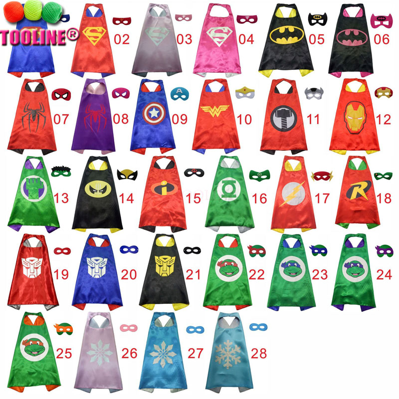 2016 Fashion Design High Quality Wholesale cosplay Superhero Capes Kids,wholesale kids costume capes