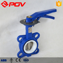 Soft seal wafer type Manual butterfly valve handles